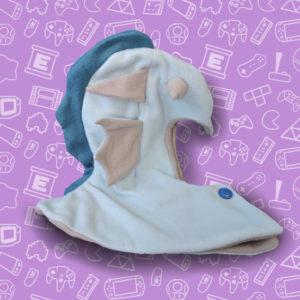 bonnet, fashion, tête, capuche, dragon, blue, aqua, aquatique