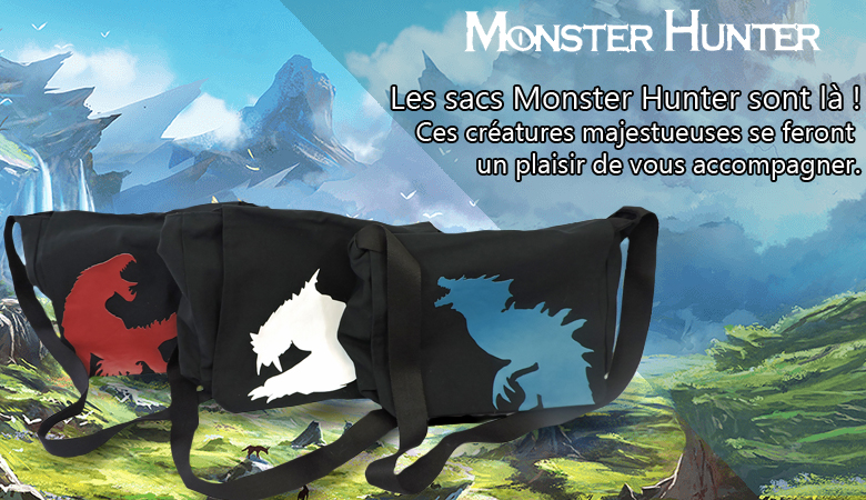 sac, besace, monster hunter, collection