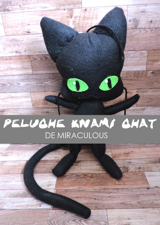 Peluche, plush, patron, gratuit, Kwami, chat noir, ladybug, chat, coccinelle, zodiaque, miraculous, serie, animé, héros,