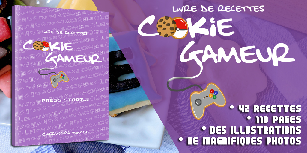 Chien, chat, recette, cuisine, biscuit, cookie, gameur, gamer, nintendo, capcom, jeux vidéo, recipe, livre, book, bio, facile, sortie, fall guys, sony, sega,